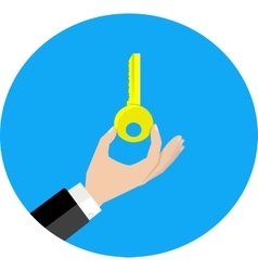 Hand hold key vector