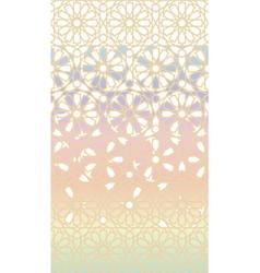 Holographic arabian modern background vector