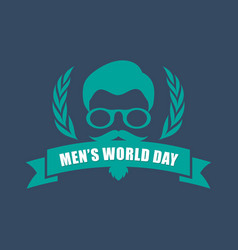international men day or father day emblem with vector image