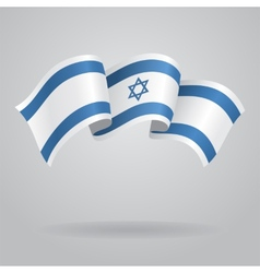 Israeli waving Flag vector image