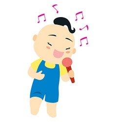 karaoke singer vector image