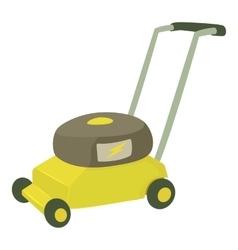 Lawnmower icon cartoon style vector