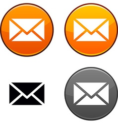 mail button vector image