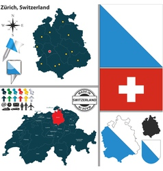 Map of Zurich vector image