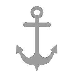 marine steel heavy anchor cartoon vector image