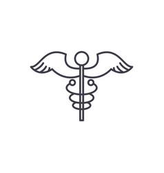 medicine sign line icon concept medicine sign vector image