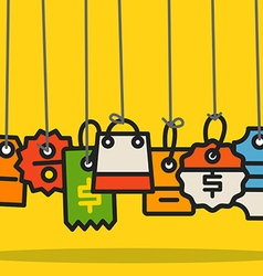 Modern web commerce tags collection vector image