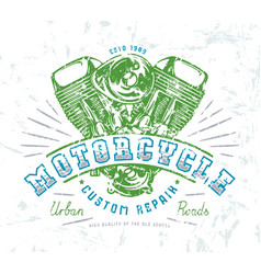 Motorbike club emblem for t-shirt vector