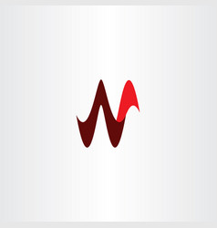n letter icon sign red symbol vector image
