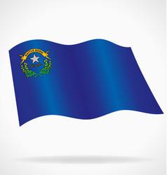 Nevada nv state flag flying vector