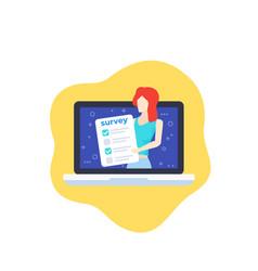online survey and feedback icon vector image