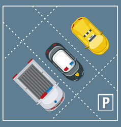 Parking zone design vector