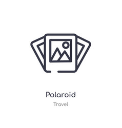 Polaroid outline icon isolated line from travel vector