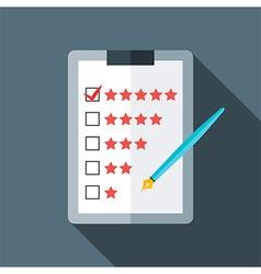 Quality checks flat stylized vector