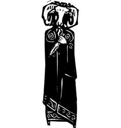 ram head priest vector image