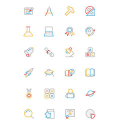 School and Education Colored line Icons 2 vector