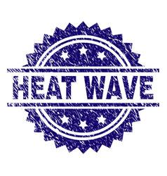 Scratched textured heat wave stamp seal vector