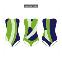 Set swimwear with an abstract pattern vector
