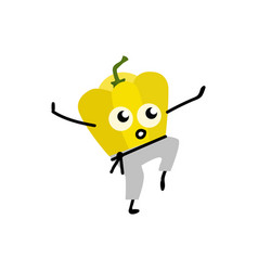 Sports vegetable element - yellow bulgarian pepper vector