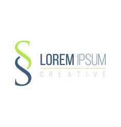 Ss modern letter logo design business corporate vector