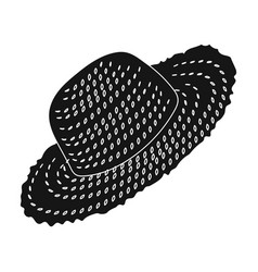 straw hat for gardener headpiece for protection vector image