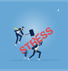 Stress and depression concept vector