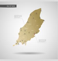 stylized isle of man map vector image