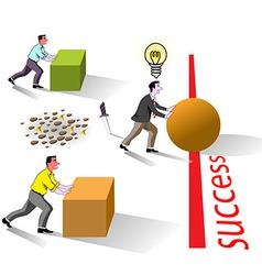 Success brain works vector