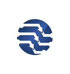 Technology control logo design template vector
