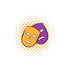 Theater masks comics icon vector