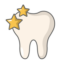 tooth icon cartoon style vector image