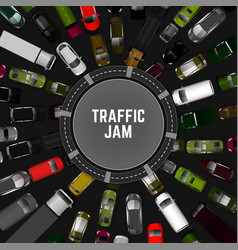 Traffic jam image vector