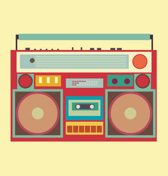 vintage boombox banner vector image