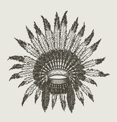 Warchief indian headdress vector