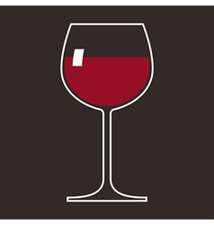 Wineglass vector