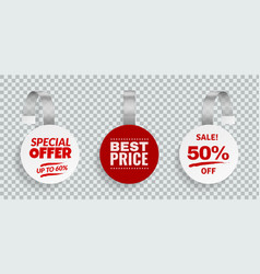 wobblers for sale discount color sign for vector image