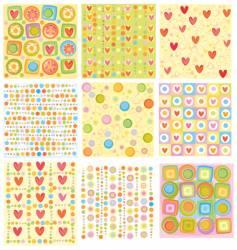 cartoon floral designs vector image vector image