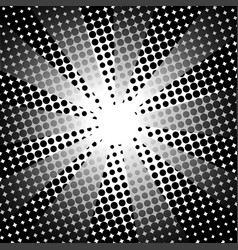 Retro rays comic black white background vector