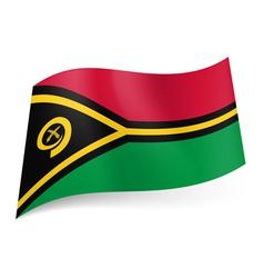 State flag of Vanuatu vector image vector image