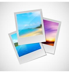 Summer photos vector image
