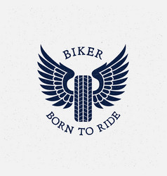 born to ride label vector image