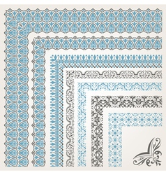 Decorative seamless islamic ornamental border with vector image vector image