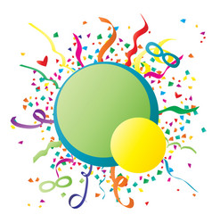 festive carnival background vector image