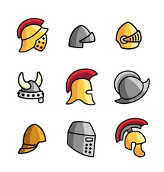 Old Helmets vector image