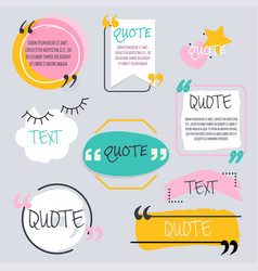 Quote blank template design elements circle vector