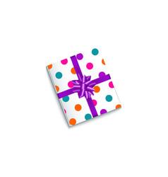 realistic birthday christmas gift present box vector image vector image