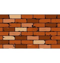 Seamless pattern of a face brick wall vector image vector image