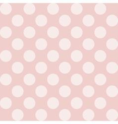 Seamless polka dot vintage pattern vector image