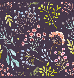 Watercolor abstract floral pattern vector