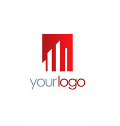 building business finance logo vector image